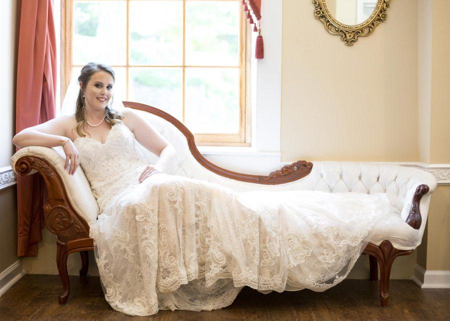 laboratory mills bride bridal suite vintage couch